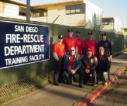 A group of Fire Command instructors after a day of training at the Firehouse World conference in San Diego.