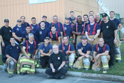 Members of the Baytown, Texas Fire Department participating in Firefighter Survival Training